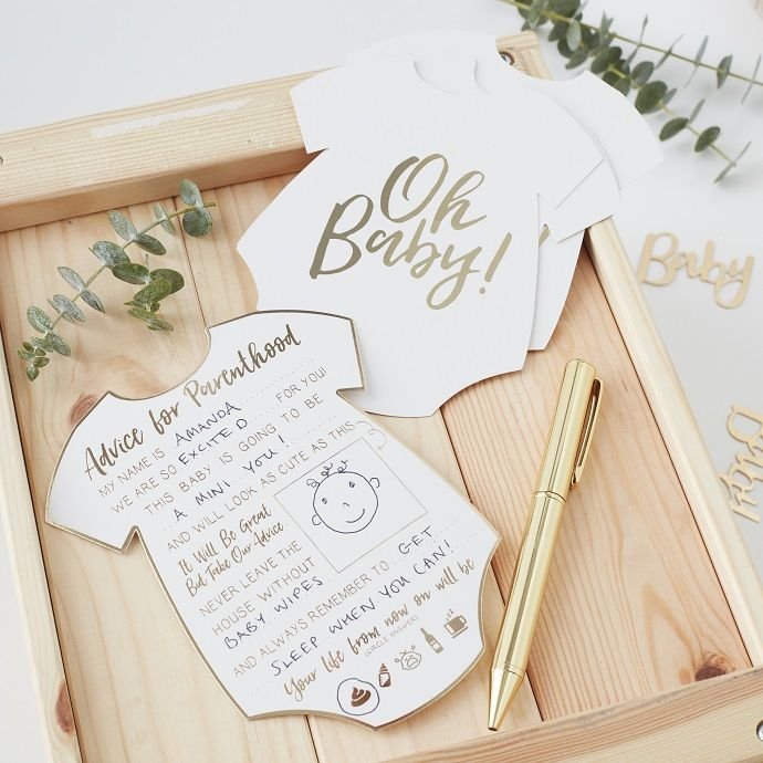 These Baby Shower Advice Cards From Partydelights Co Uk Make A