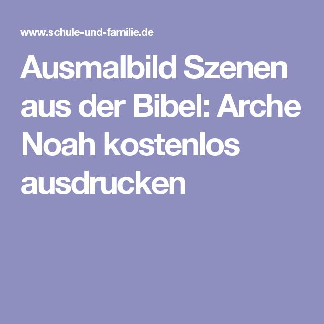 Ausmalbild Szenen Aus Der Bibel Arche Noah Kostenlos Ausdrucken