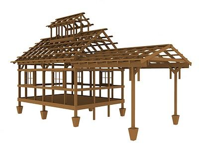 sugar shack design | Build this tiny house: Sugar House plans 03 ...