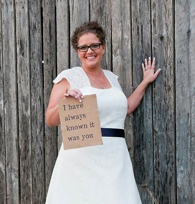 """Rustic Handmade Country Barn & Burlap Wedding Sign """"I knew it was you"""" Decor"""