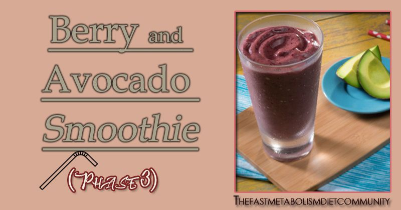 fast metabolism diet and avocado smoothie
