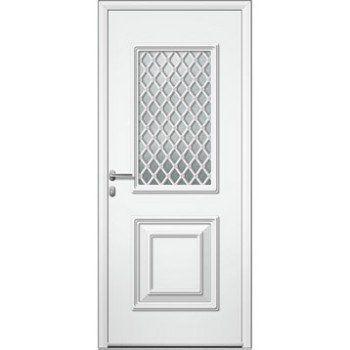 Porte D Entree Sur Mesure En Aluminium Utah Grille Artens Leroy Merlin Entree Portes Porte Garage