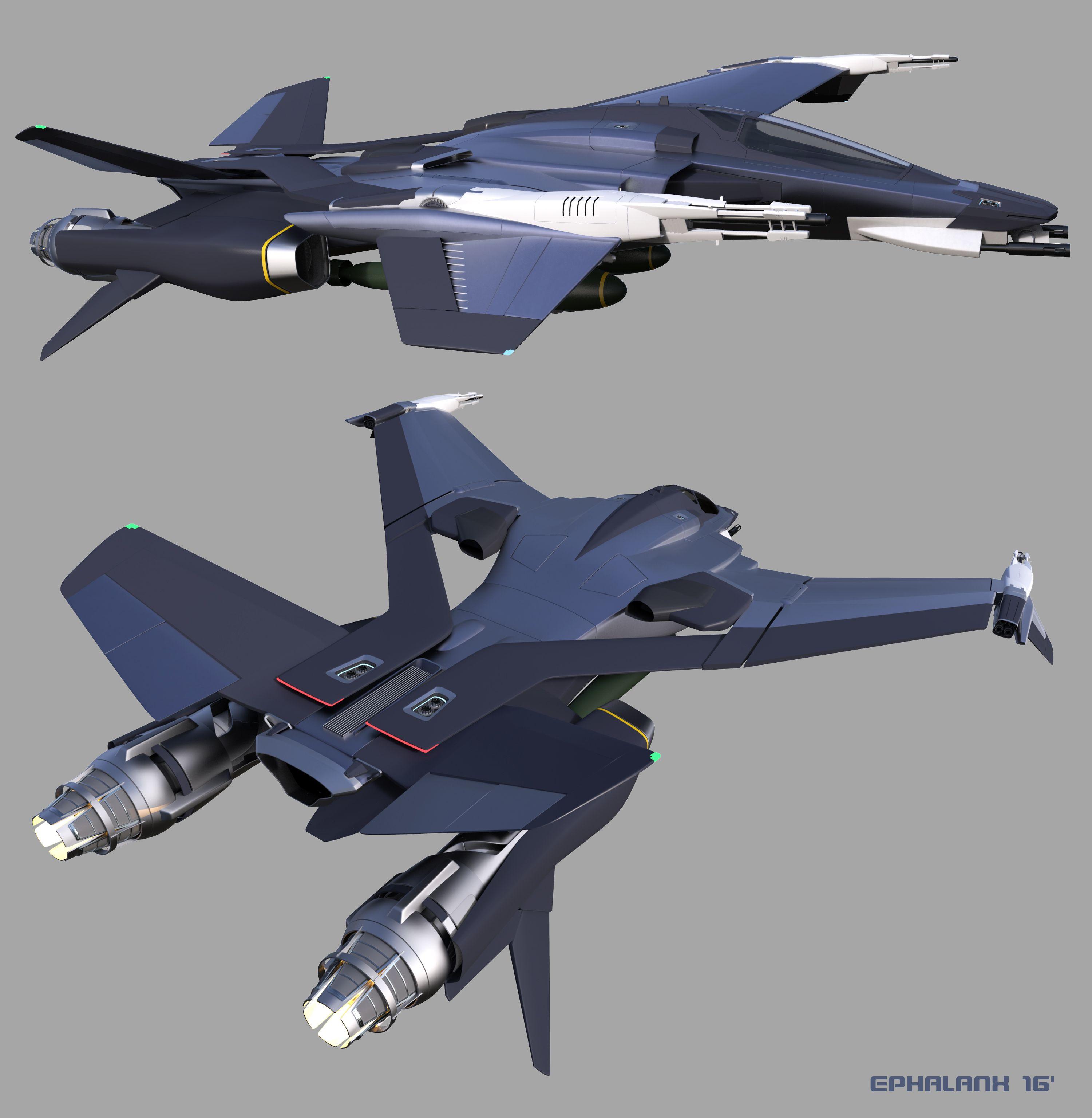 CGTalk - Thrust Challenge - Myrmidon Fighter (3D) - Landon ...