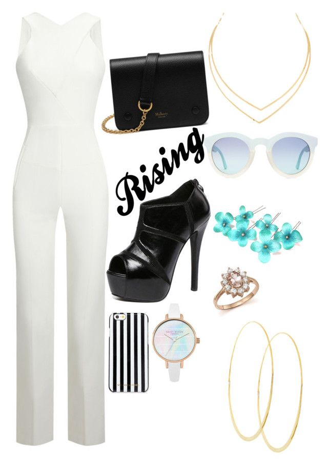 """""""Rising up"""" by smokeylovebae ❤ liked on Polyvore featuring Roland Mouret, WithChic, Mulberry, MICHAEL Michael Kors, Bloomingdale's and Lana"""