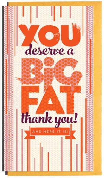 A Big Fat Thank You Card Products Pinterest Thank