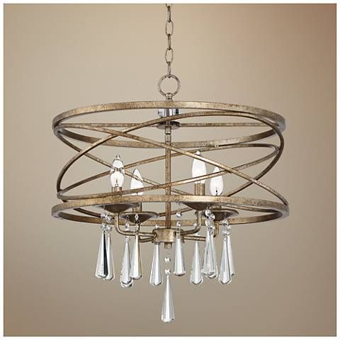 "Lamps Plus Pendant Lights Fascinating Possini Euro Viviette 20"" Wide Crystal Drum Pendant Light  Pendant Design Decoration"