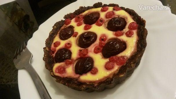 Kakaové tartaletky s tvarohovou náplňou a ovocím (fotorecept) - Recept