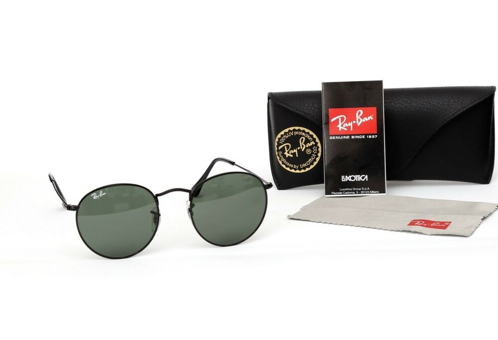 bce1051fa8073 Brand New Ray-Ban Round Metal RB3447 N 002 71 S Black Sunglasses with Case   fashion  clothing  shoes  accessories  mensaccessories ...