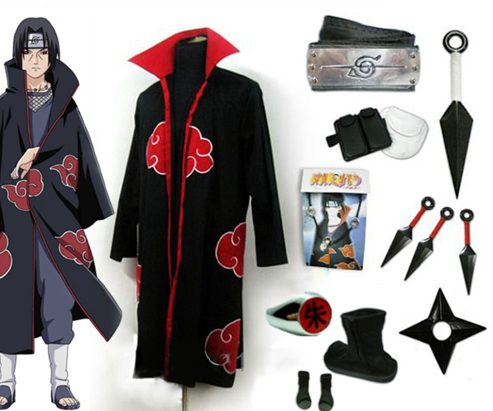 COSPLAY Anime NARUTO Uchiha Obito Uniform Cloth Costume Mask Headgear Suit Gifts