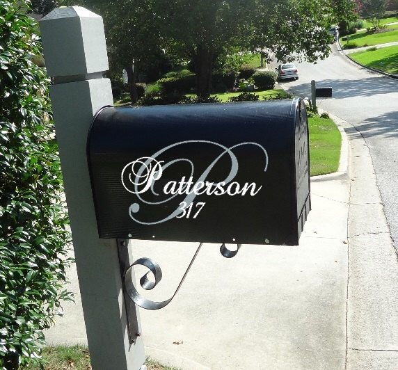 Curb Appeal Address Decal Mailbox Number with Turtle Family Vinyl Decal Decal Mailbox Decal