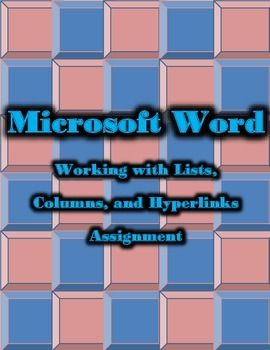 microsoft word working with lists columns hyperlinks lesson