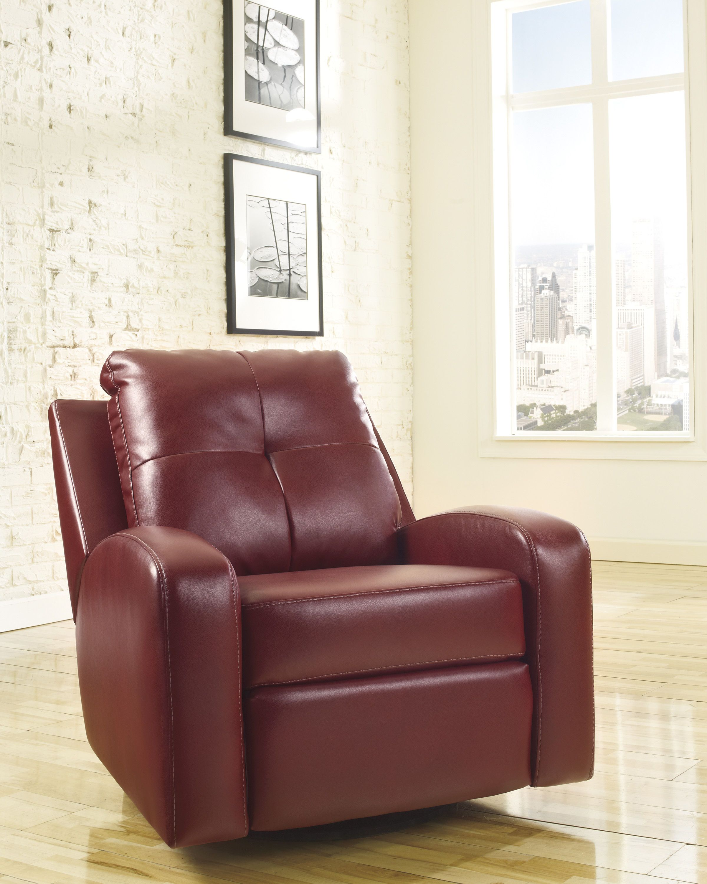 Wondrous Mannix Durablend Red Leather Pu Swivel Glider Recliner Creativecarmelina Interior Chair Design Creativecarmelinacom