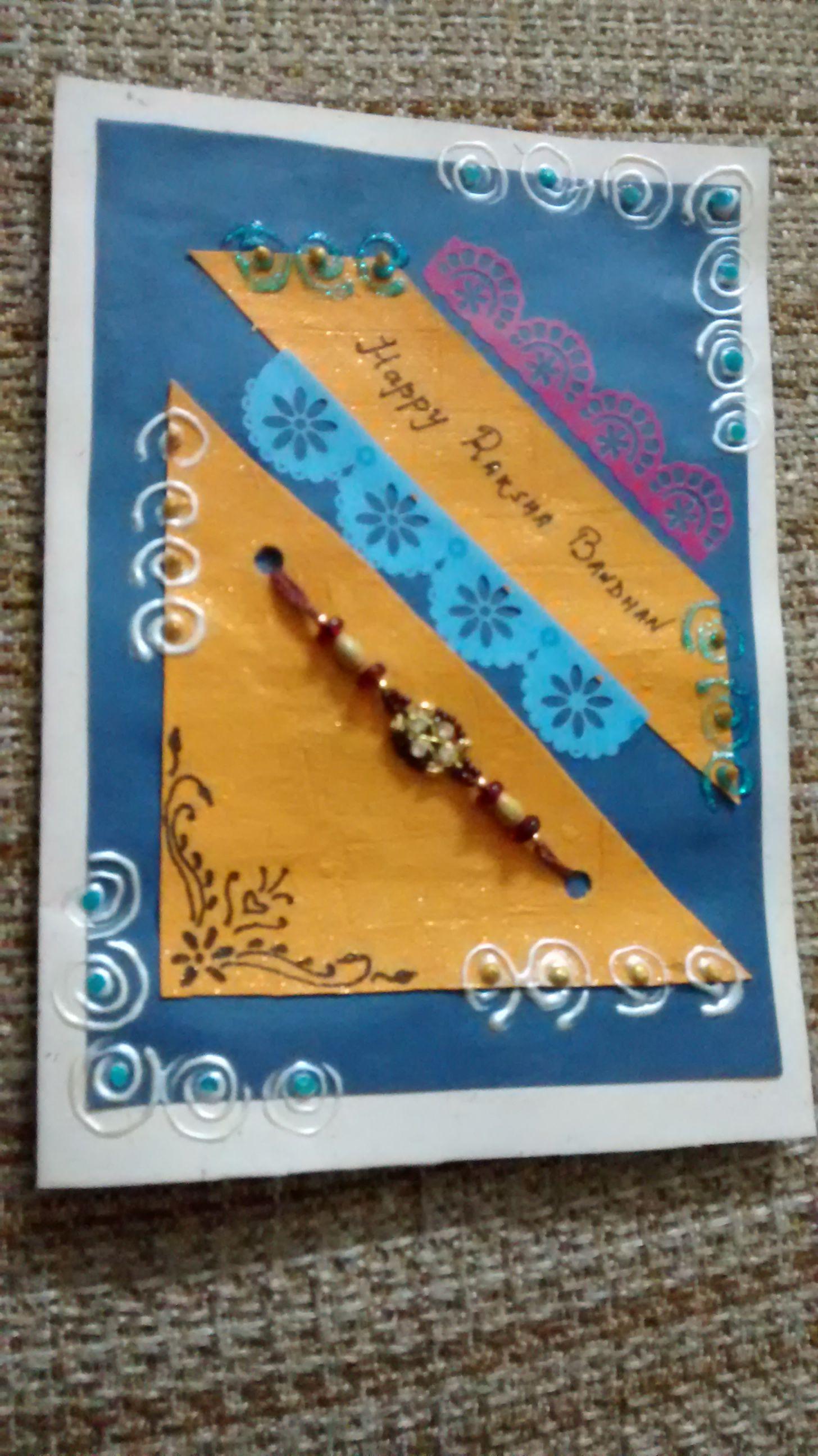 Pin by monika goel on rakhi pinterest rakhi rakhi cards and cards rakhi cards handmade rakhi gift tags greeting card card sentiments congratulations card gift ideas kristyandbryce Choice Image