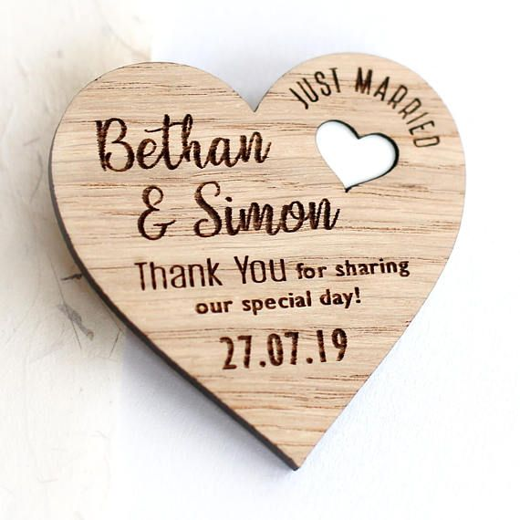 Wedding Thank You Gifts For Guests: Thank You Wedding Magnets Rustic Thank You Wedding Favours