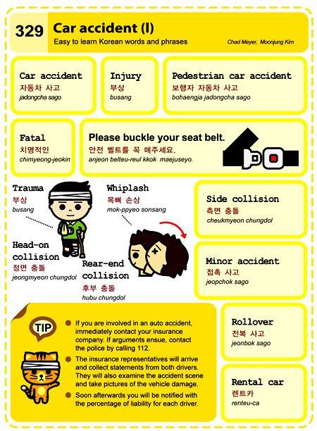 329 Learn Korean Hangul Car Accident 1