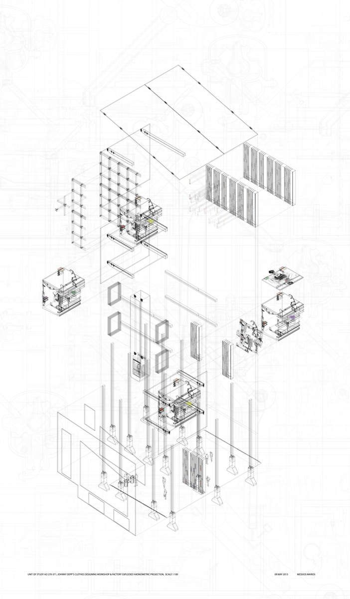 Axonometric Drawings Of The New York Times Building