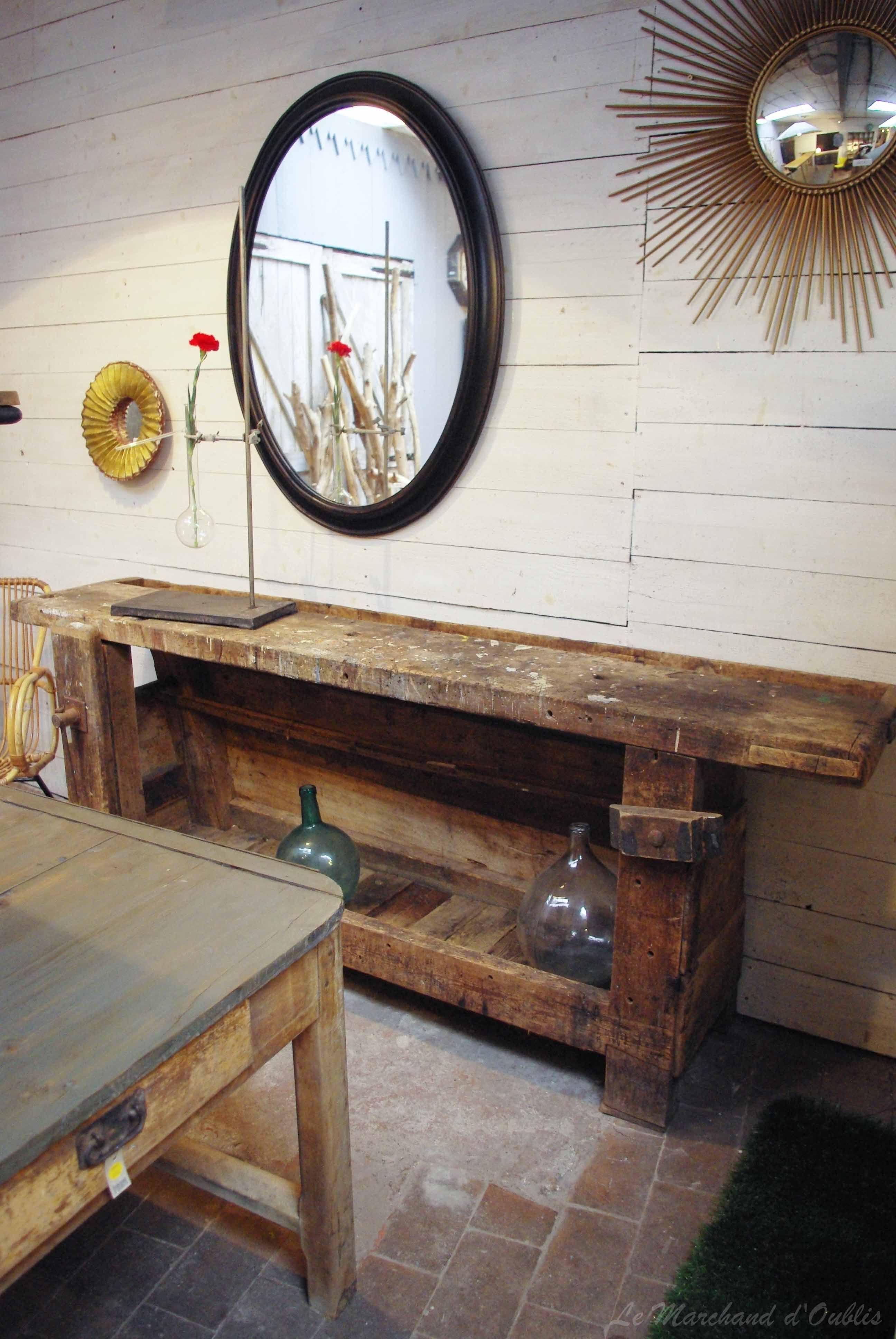 ancien tabli en bois par le marchand d 39 oublis tabli pinterest tabli en bois tablis et. Black Bedroom Furniture Sets. Home Design Ideas