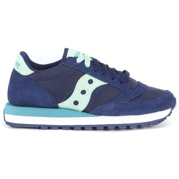 Saucony Sneakers ($97) ❤ liked on Polyvore featuring shoes, sneakers, blu, navy blue sneakers, navy sneakers, saucony trainers, saucony footwear and navy blue shoes