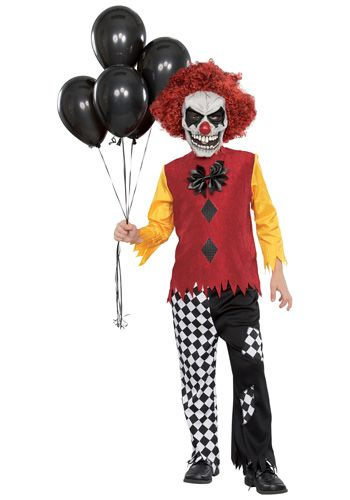 Halloween Costumes For Kids Scary.Child Last Laugh Clown Costume Halloween Scary Scary