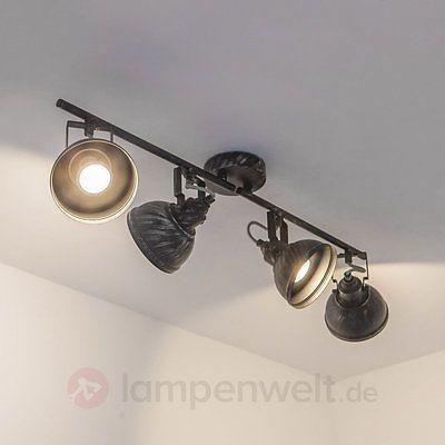Deckenleuchte Etienne 4-flammig Rustikal Nostalgisch Deckenlampe