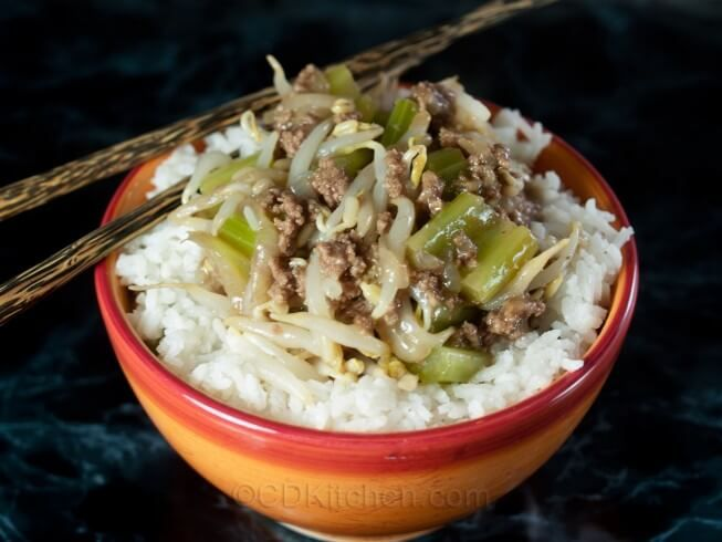 This easy chop suey style recipe is made with ground beef and this easy chop suey style recipe is made with ground beef and vegetables and served over rice great way to make a quick meal forumfinder Gallery