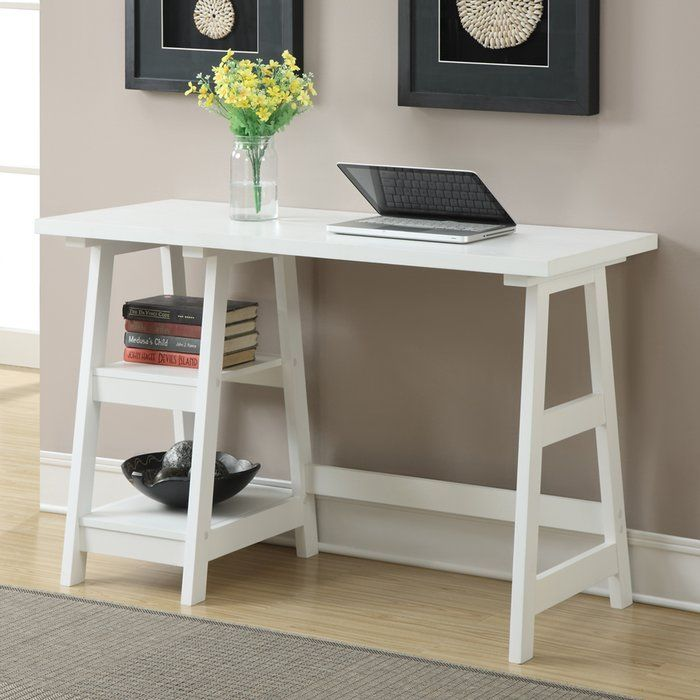 Donavan Reversible Desk Trestle Desk Home Office