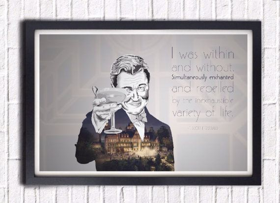 Great Gatsby F. Scott Fitzgerald quote I by SargentIllustration, $30.00