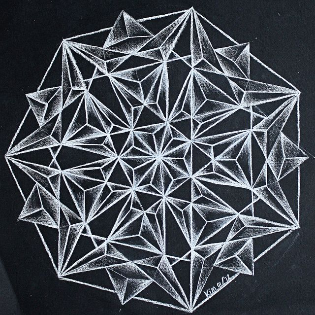 De 7 puntige ster by kimminita, via Flickr, kristal mandala, crystal