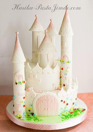 Мастер класс торт замок принцессы