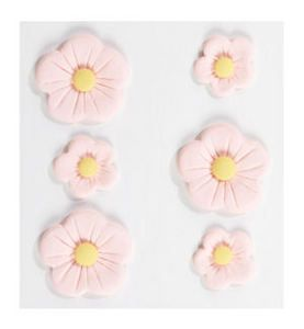 Floral > Large Pink Fondant Flowers: Stickers Galore