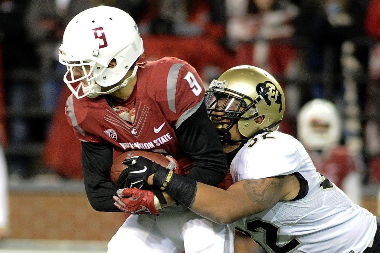 Colorado's defense looks strong Football helmets