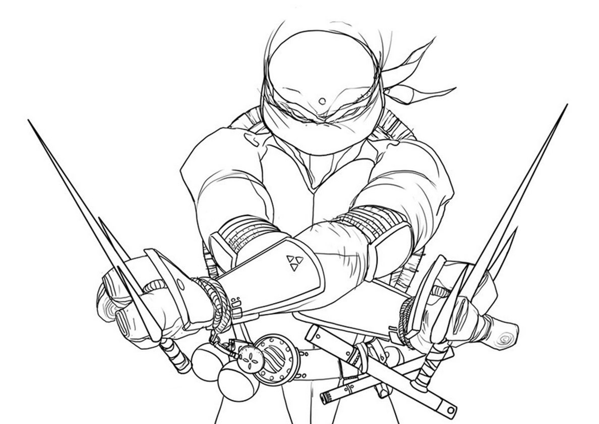 Epic Pose Of Raphael High Quality Free Coloring Page From The Category Tmnt More Printable Pict Cartoon Coloring Pages Coloring Pages Turtle Coloring Pages