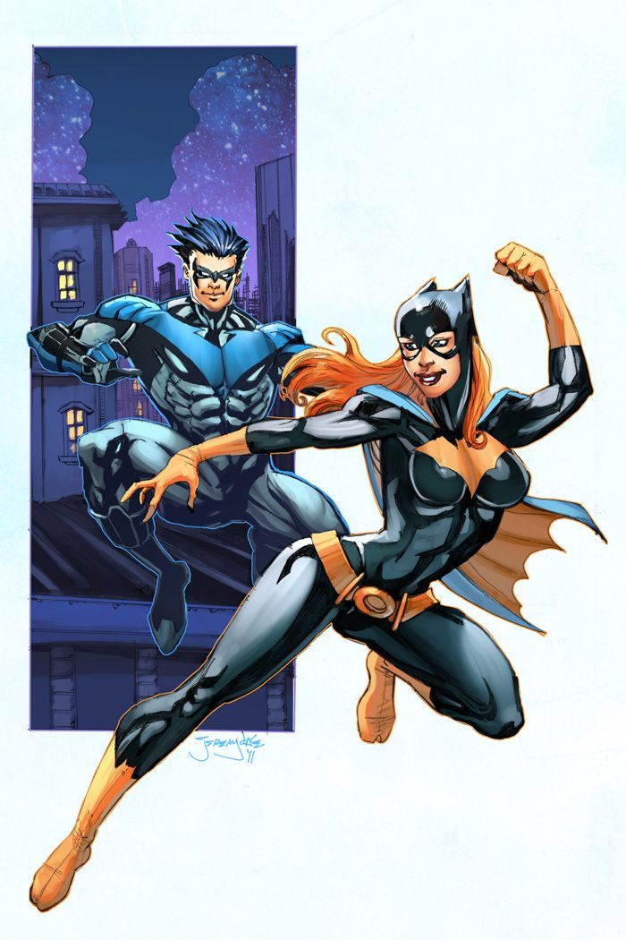 Image result for batgirl and nightwing