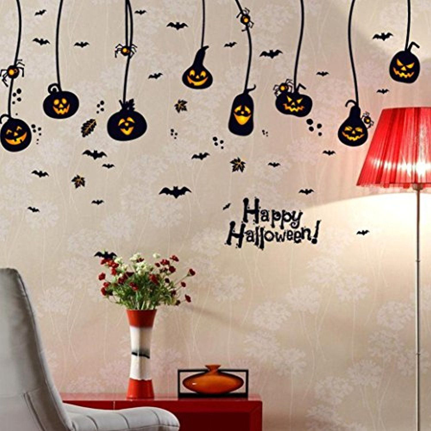 Putars halloween pumpkin charm removable wall stickers art vinyl putars halloween pumpkin charm removable wall stickers art vinyl decal home room decor for halloween home decoration check this awesome product by going amipublicfo Image collections