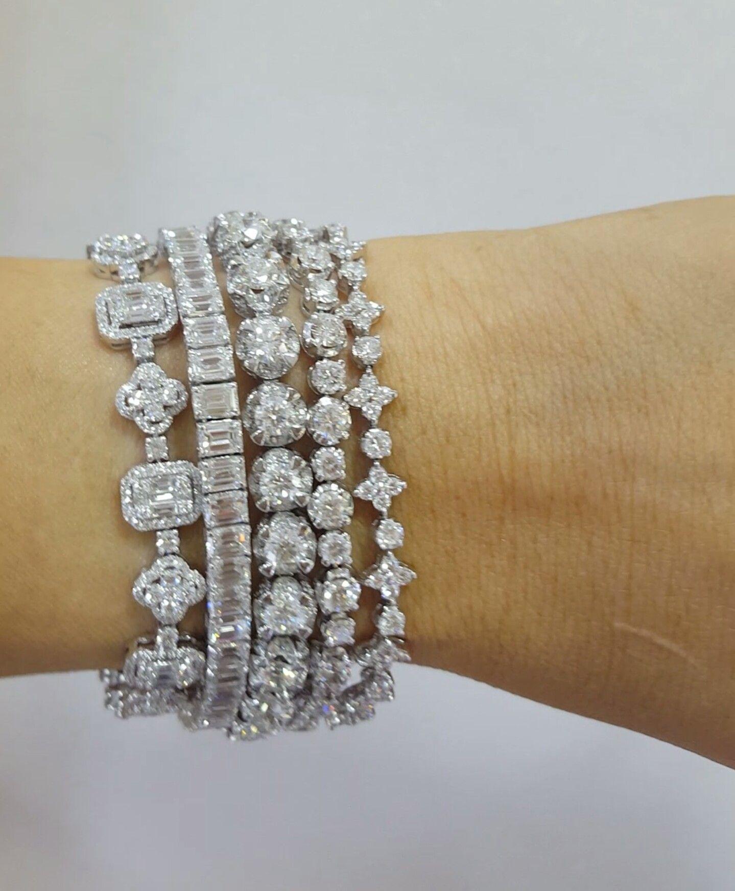 Pin by alan mcavoy on silver bracelets in pinterest diamond