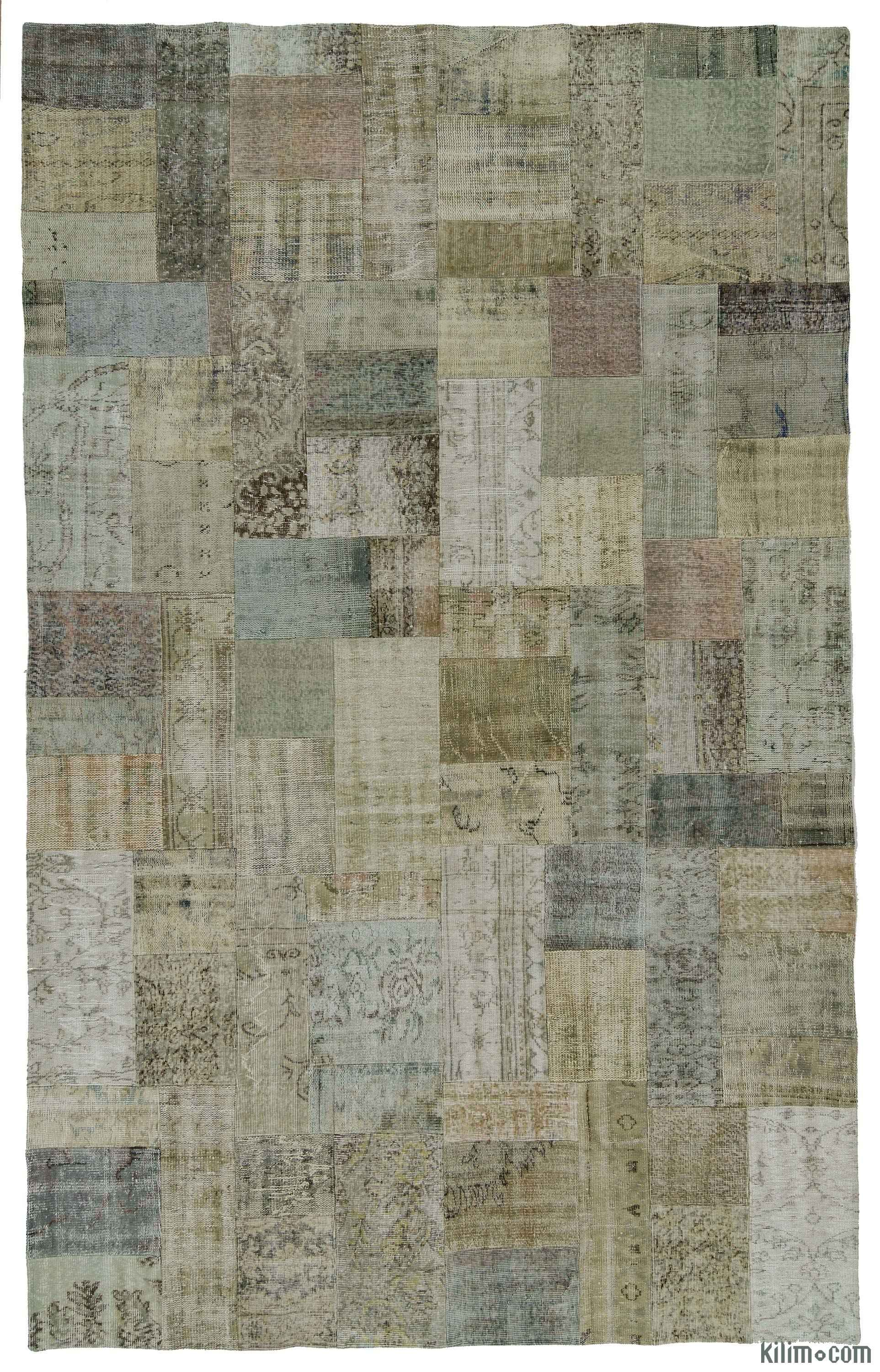 Over Dyed Turkish Patchwork Rug Patchwork Rugs Patchwork And  # Muebles Bizstyle