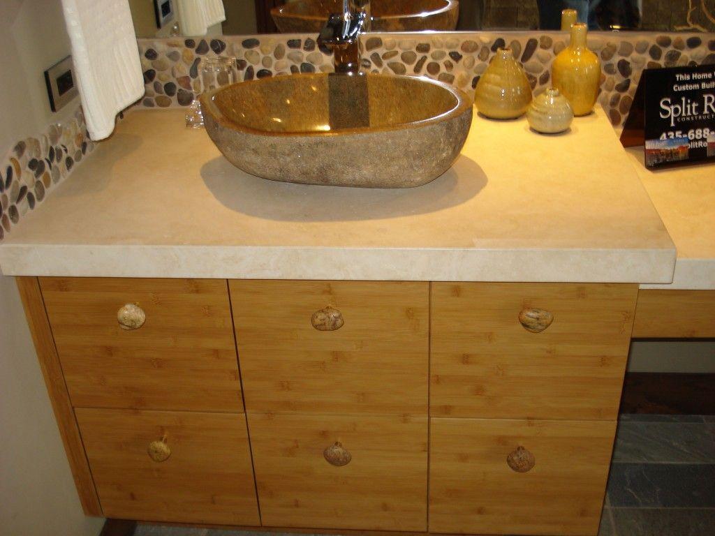 Natural stone bathroom sinks ideas bathroom sink from natural stone i love the natural stone Granite backsplash for bathroom vanity