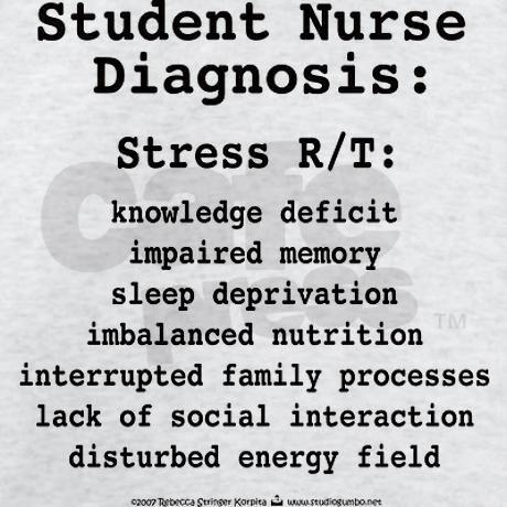 Student Nurse Diagnosis Ash Grey Light T-Shirt | Nursing ...