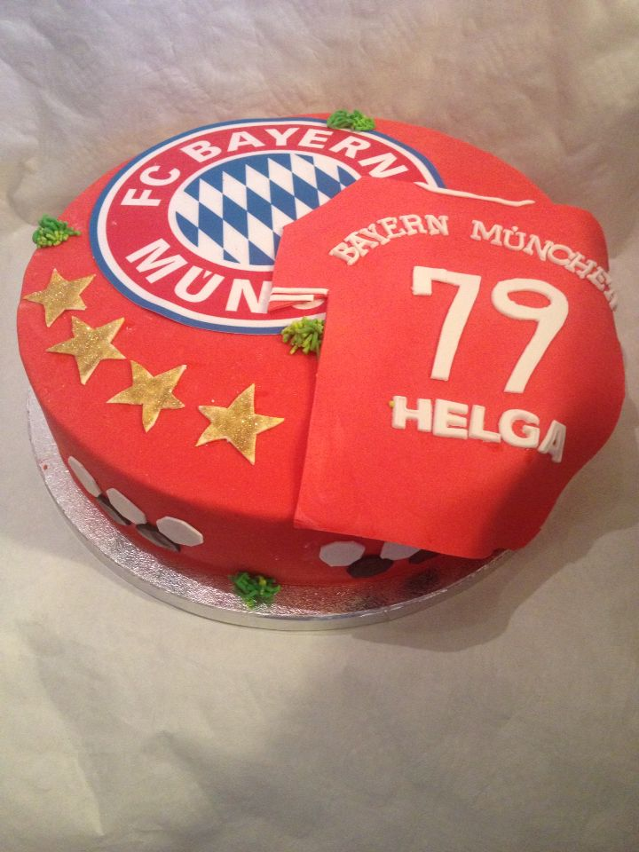 bayern münchen torte- soccer cake   bayern torte, fußball