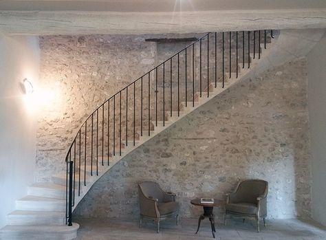 Choisir La Pierre Apparente Escalier Exterieur Rampe Escalier Escalier