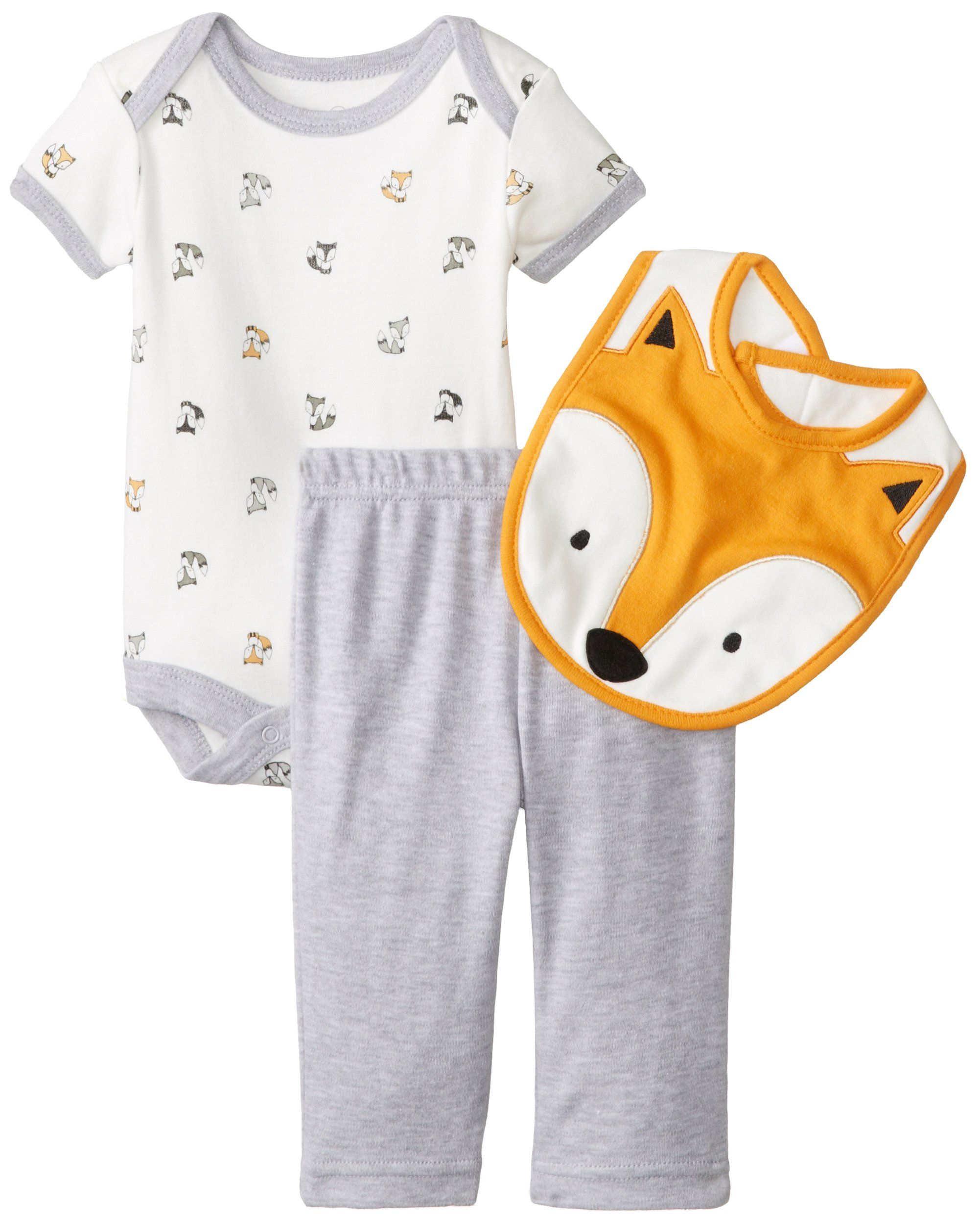 Rene Rofe Baby Baby Boys Newborn Fox 3 Piece Pant Set with Bodysuit