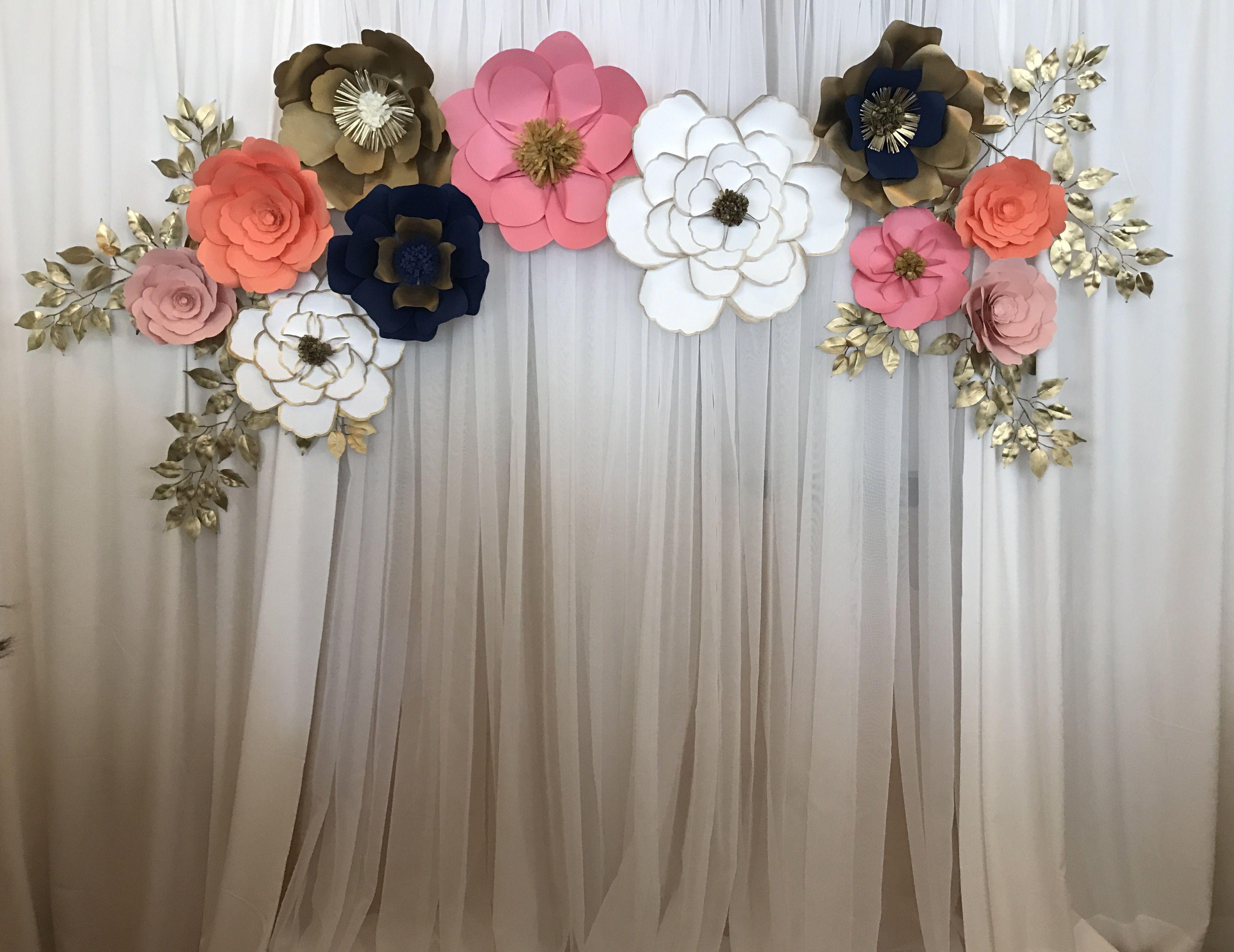 Giant Paper Flower Photobooth