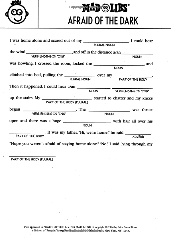 Using Mad Libs to teach grammar? I think yes  | 2015