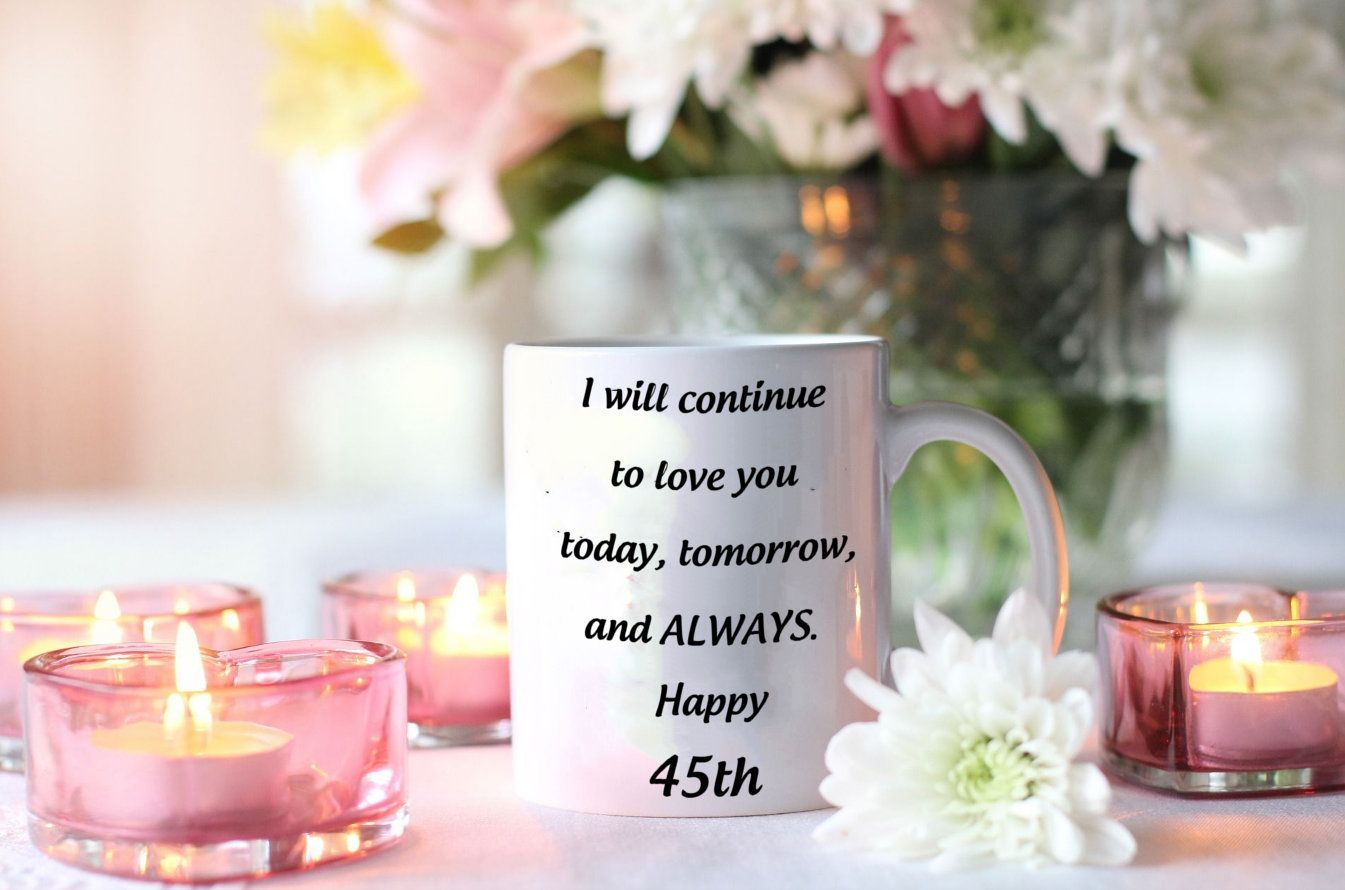 45th Anniversary Gift For Her, 45th Anniversary Gifts For