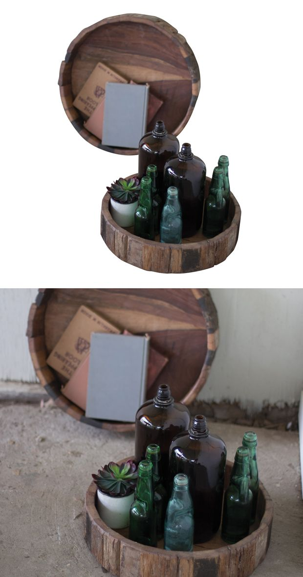 Serve up some eco-friendly design. Our Jax Railway Trays set includes two round serving trays made with recycled railway timber. These rustic pieces are ideal for indoor or outdoor use.  Find the Jax Railway Trays - Set of 2, as seen in the Rustic Outdoor Charm Collection at http://dotandbo.com/collections/rustic-outdoor-charm?utm_source=pinterest&utm_medium=organic&db_sku=124157