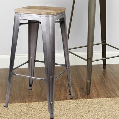Williston Forge Spain Backless Metal 30 Bar Stool Color