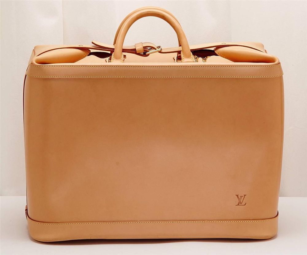 LOUIS VUITTON CRUISER 45 All Vachetta Leather Travel Bag Tote Weekender Special Order