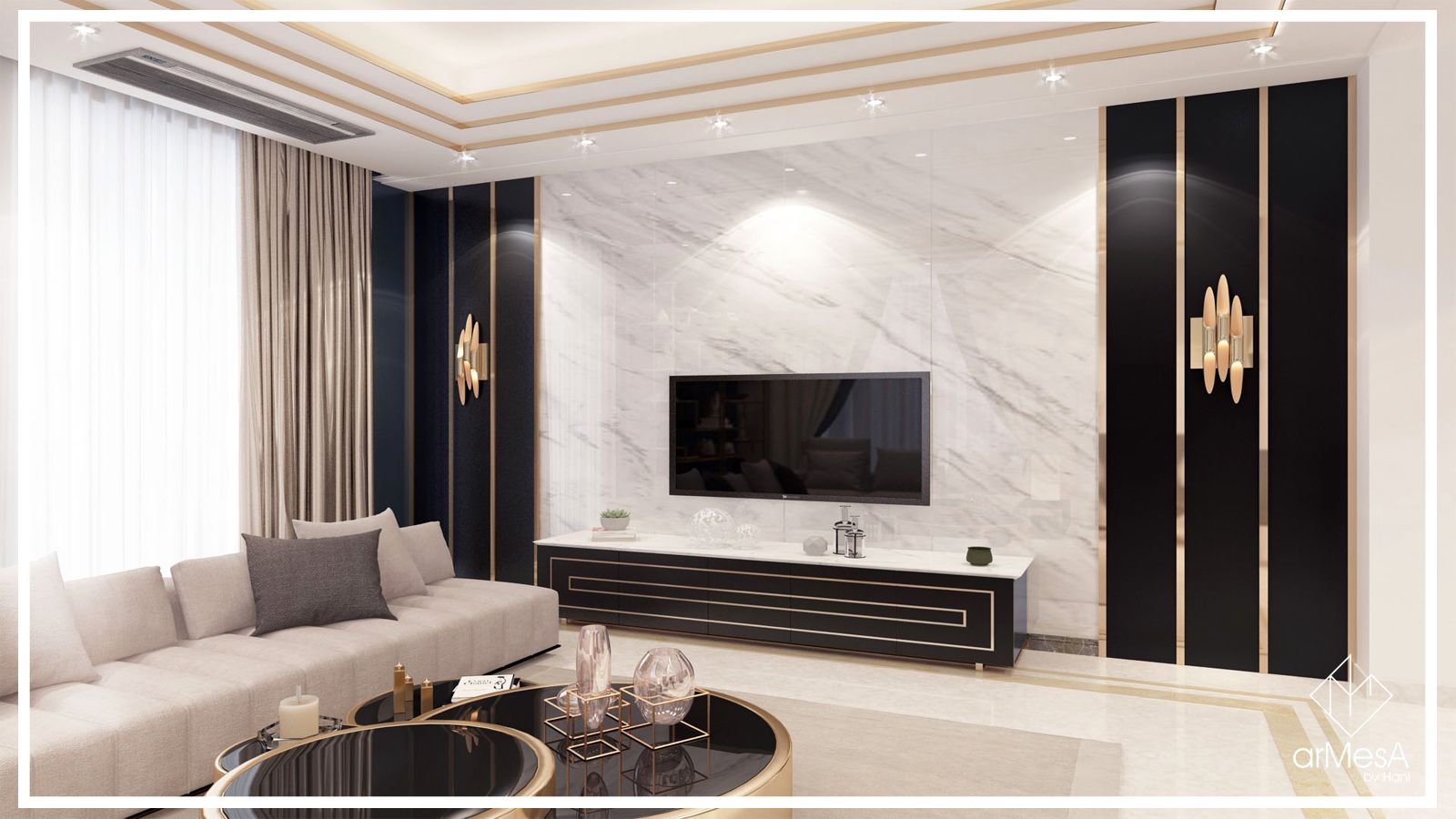 Luxurious Home Situated In Yerevan Designed By Armesa By Hani Art Deco Is One Of Those Design Styles That Defi Luxury Homes Home And Living Home Living Room