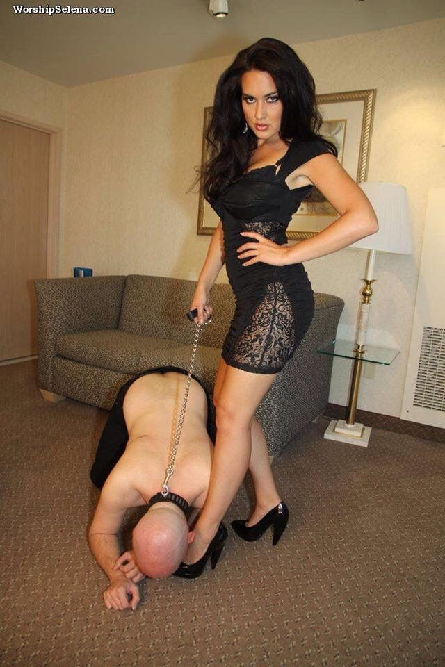 image Mother and daughter dominatrixes rule muscle bound male