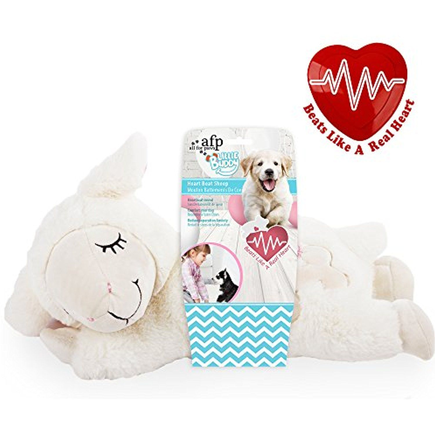 Afp Snuggle Sheep Pet Behavioral Aid Toy Warm Plush Toy Check